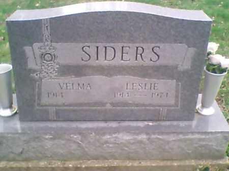 SIDERS, LESLIE - Meigs County, Ohio   LESLIE SIDERS - Ohio Gravestone Photos