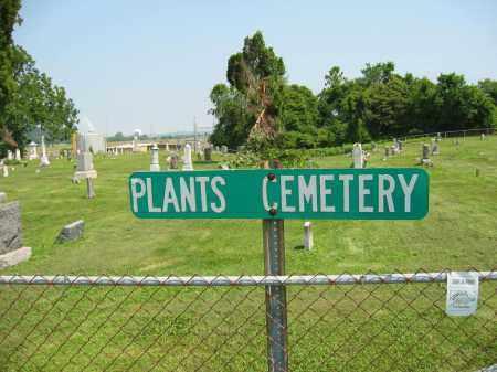 PLANTS CEMETERY, SIGN - Meigs County, Ohio   SIGN PLANTS CEMETERY - Ohio Gravestone Photos