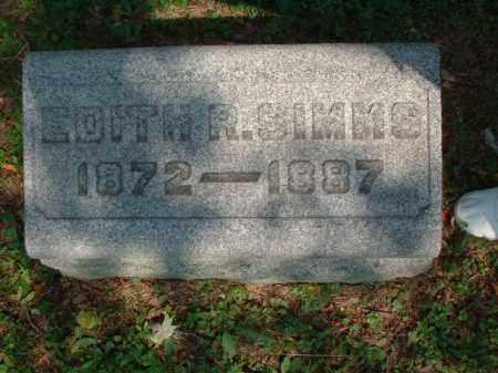 SIMMS, EDITH R. - Meigs County, Ohio   EDITH R. SIMMS - Ohio Gravestone Photos