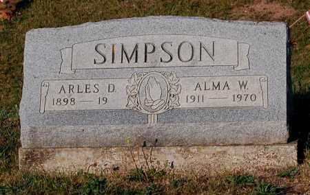 SIMPSON, ALMA W. - Meigs County, Ohio | ALMA W. SIMPSON - Ohio Gravestone Photos