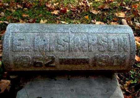 SIMPSON, E.M. - Meigs County, Ohio   E.M. SIMPSON - Ohio Gravestone Photos