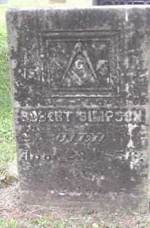 SIMPSON, ROBERT - Meigs County, Ohio | ROBERT SIMPSON - Ohio Gravestone Photos