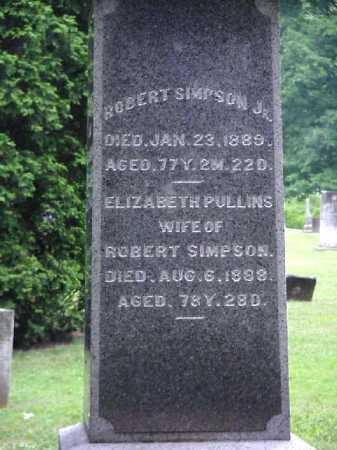 PULLINS SIMPSON, ELIZABETH - Meigs County, Ohio | ELIZABETH PULLINS SIMPSON - Ohio Gravestone Photos