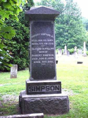 PULLINS SIMPSON, ELIZABETH - Meigs County, Ohio | ELIZABETH PULLINS SIMPSON - Ohio Gravestone Photos