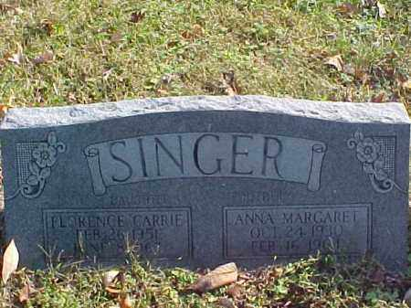 SINGER, FLORENCE CARRIE - Meigs County, Ohio | FLORENCE CARRIE SINGER - Ohio Gravestone Photos