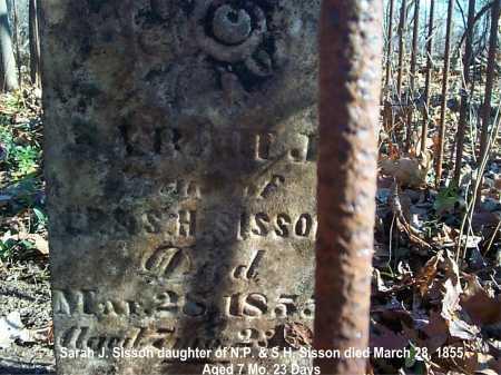 SISSON, SARAH J. - Meigs County, Ohio | SARAH J. SISSON - Ohio Gravestone Photos