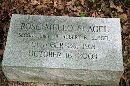 SLAGEL, ROSE MELLO - Meigs County, Ohio   ROSE MELLO SLAGEL - Ohio Gravestone Photos