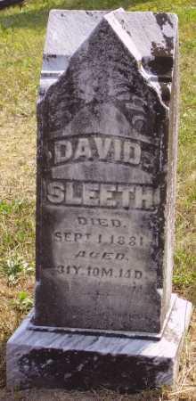 SLEETH, DAVID - Meigs County, Ohio | DAVID SLEETH - Ohio Gravestone Photos