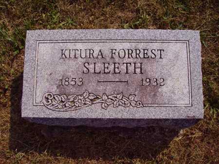 FORREST SLEETH, KITURA - Meigs County, Ohio | KITURA FORREST SLEETH - Ohio Gravestone Photos