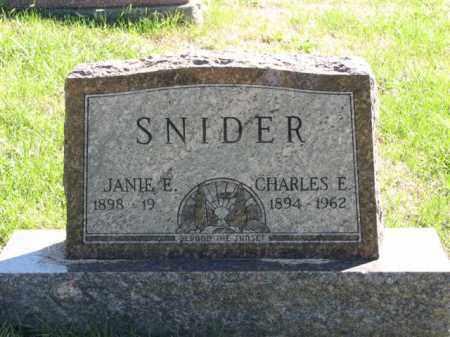 SNIDER, CHARLES E. - Meigs County, Ohio   CHARLES E. SNIDER - Ohio Gravestone Photos