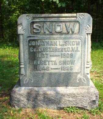 SNOW, ROSETTA - Meigs County, Ohio | ROSETTA SNOW - Ohio Gravestone Photos