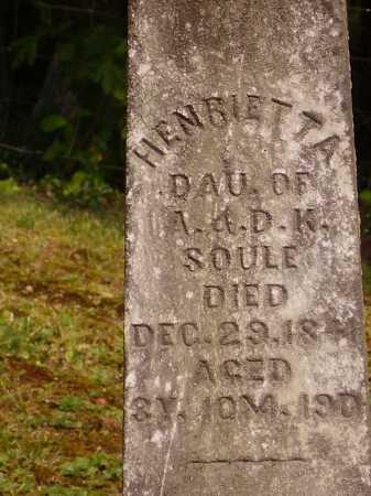 SOULE, HENRIETTA - Meigs County, Ohio | HENRIETTA SOULE - Ohio Gravestone Photos