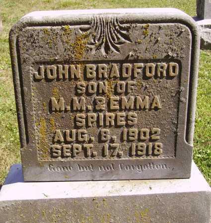 SPIRES, JOHN BRADFORD - Meigs County, Ohio   JOHN BRADFORD SPIRES - Ohio Gravestone Photos