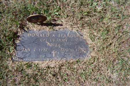 SPRAGUE, DONALD A - Meigs County, Ohio   DONALD A SPRAGUE - Ohio Gravestone Photos