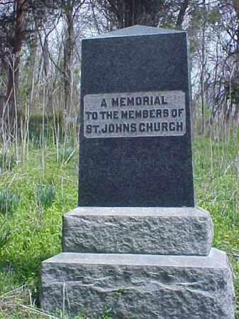 ST. JOHNS CHURCH, MEMORIAL - Meigs County, Ohio | MEMORIAL ST. JOHNS CHURCH - Ohio Gravestone Photos
