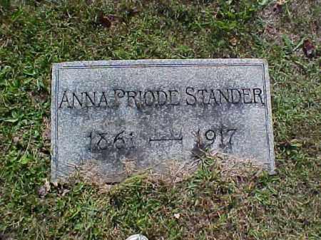 STANDER, ANNA - Meigs County, Ohio | ANNA STANDER - Ohio Gravestone Photos