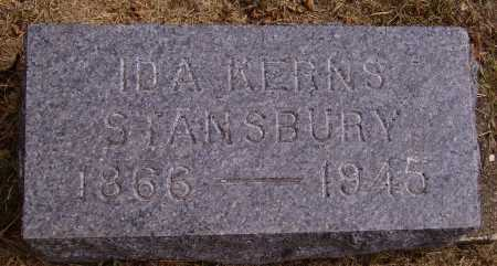 KERNS STANSBURY, IDA H. - INDIVIDUAL STONE - Meigs County, Ohio | IDA H. - INDIVIDUAL STONE KERNS STANSBURY - Ohio Gravestone Photos