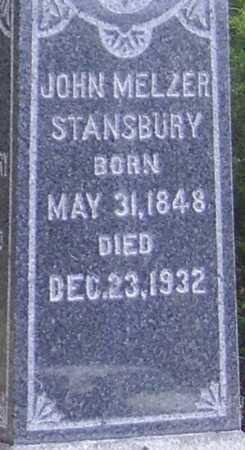 STANSBURY, JOHN MELZER - CLOSE VIEW - Meigs County, Ohio   JOHN MELZER - CLOSE VIEW STANSBURY - Ohio Gravestone Photos