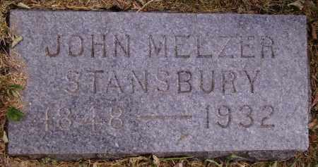 STANSBURY, JOHN MELZER - INDIVIDUAL STONE - Meigs County, Ohio | JOHN MELZER - INDIVIDUAL STONE STANSBURY - Ohio Gravestone Photos