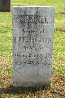 STEPHENSON, SARAH ANN - Meigs County, Ohio   SARAH ANN STEPHENSON - Ohio Gravestone Photos