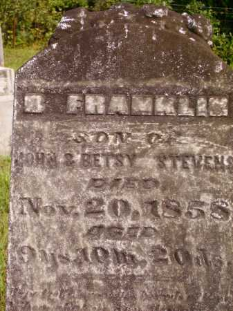 STEVENS, B. FRANKLIN - Meigs County, Ohio   B. FRANKLIN STEVENS - Ohio Gravestone Photos