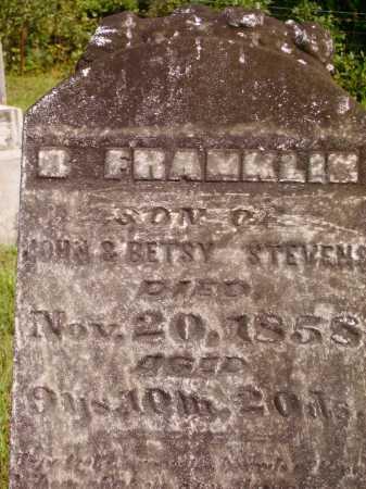 STEVENS, B. FRANKLIN - Meigs County, Ohio | B. FRANKLIN STEVENS - Ohio Gravestone Photos