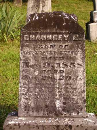 STEVENS, CHAUNCEY B. - Meigs County, Ohio   CHAUNCEY B. STEVENS - Ohio Gravestone Photos