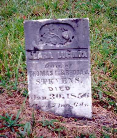 STEVENS, CLARA LUCINDA - Meigs County, Ohio | CLARA LUCINDA STEVENS - Ohio Gravestone Photos