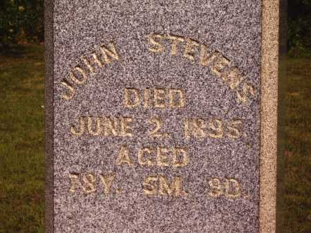 STEVENS, JOHN - Meigs County, Ohio | JOHN STEVENS - Ohio Gravestone Photos