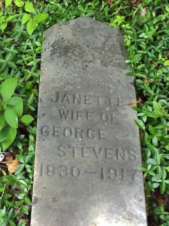 STEVENS, JANETTE - Meigs County, Ohio   JANETTE STEVENS - Ohio Gravestone Photos