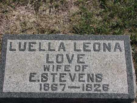 LOVE STEVENS, LUELLA LEONA - Meigs County, Ohio | LUELLA LEONA LOVE STEVENS - Ohio Gravestone Photos