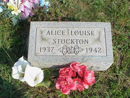 STOCKTON, ALICE LOUISE - Meigs County, Ohio | ALICE LOUISE STOCKTON - Ohio Gravestone Photos