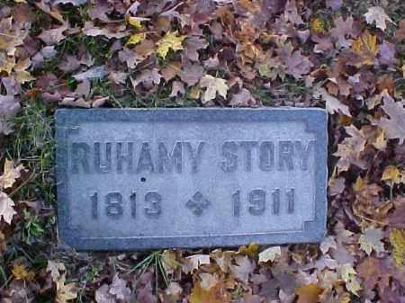 STORY, RUHAMY - Meigs County, Ohio   RUHAMY STORY - Ohio Gravestone Photos