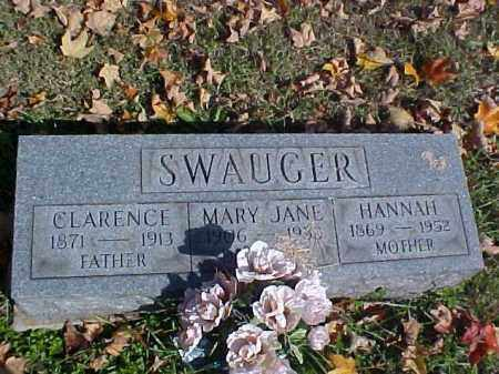 SWAUGER, CLARENCE - Meigs County, Ohio   CLARENCE SWAUGER - Ohio Gravestone Photos