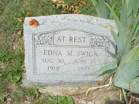 SWICK, EDNA M. - Meigs County, Ohio | EDNA M. SWICK - Ohio Gravestone Photos