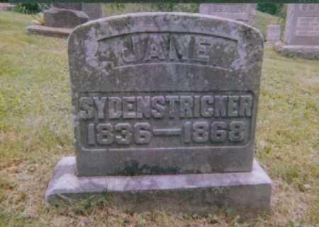 SYDENSTRICKER, JANE ANN - Meigs County, Ohio | JANE ANN SYDENSTRICKER - Ohio Gravestone Photos