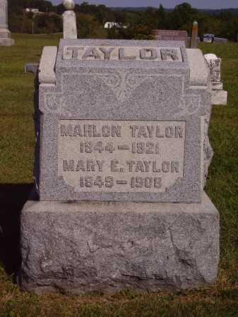 TAYLOR, MARY E. - Meigs County, Ohio | MARY E. TAYLOR - Ohio Gravestone Photos