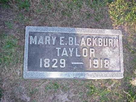 BLACKBURN TAYLOR, MARY E. - Meigs County, Ohio | MARY E. BLACKBURN TAYLOR - Ohio Gravestone Photos
