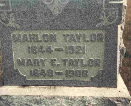 TAYLOR, MAHLON - Meigs County, Ohio | MAHLON TAYLOR - Ohio Gravestone Photos