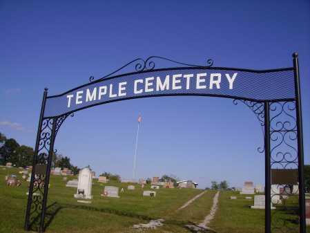 TEMPLE, CEMETERY SIGN - Meigs County, Ohio | CEMETERY SIGN TEMPLE - Ohio Gravestone Photos