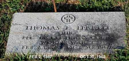 TERRELL, THOMAS E. - Meigs County, Ohio | THOMAS E. TERRELL - Ohio Gravestone Photos