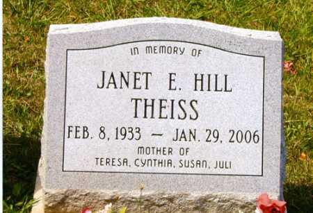 HILL THEISS, JANET E. - Meigs County, Ohio | JANET E. HILL THEISS - Ohio Gravestone Photos