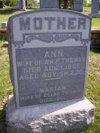 THOMAS, ANN - Meigs County, Ohio   ANN THOMAS - Ohio Gravestone Photos