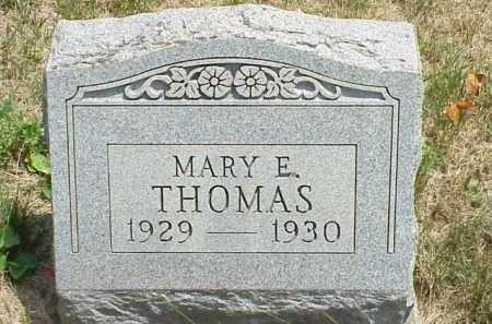THOMAS, MARY E. - Meigs County, Ohio   MARY E. THOMAS - Ohio Gravestone Photos