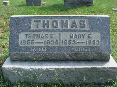 THOMAS, MARY E. - Meigs County, Ohio | MARY E. THOMAS - Ohio Gravestone Photos