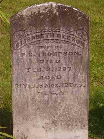 BEESON THOMPSON, ELISABETH - Meigs County, Ohio | ELISABETH BEESON THOMPSON - Ohio Gravestone Photos