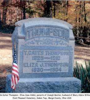 ADDIS THOMPSON, ELIZA J. - Meigs County, Ohio | ELIZA J. ADDIS THOMPSON - Ohio Gravestone Photos