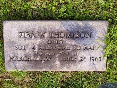 THOMPSON, ZIBA WILLARD - Meigs County, Ohio | ZIBA WILLARD THOMPSON - Ohio Gravestone Photos