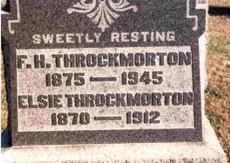 THROCKMORTON, F. H. - Meigs County, Ohio | F. H. THROCKMORTON - Ohio Gravestone Photos