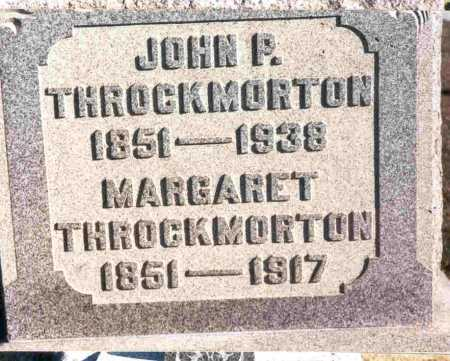THROCKMORTON, JOHN P. - Meigs County, Ohio | JOHN P. THROCKMORTON - Ohio Gravestone Photos